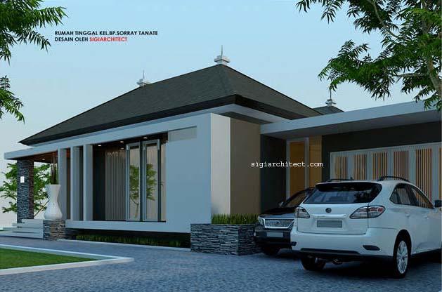 desain rumah 1 lantai elegan