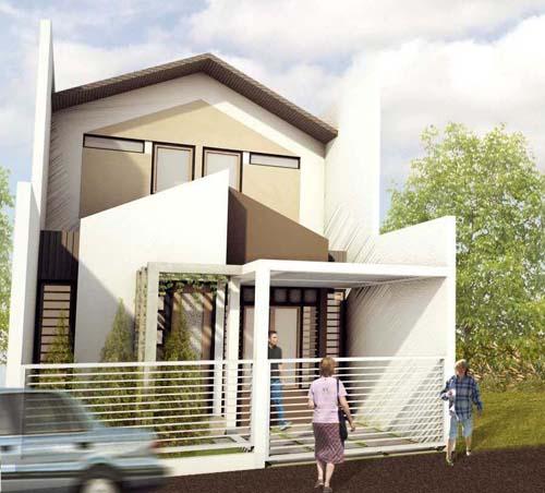 desain rumah minimalis sederhana nuansa putih