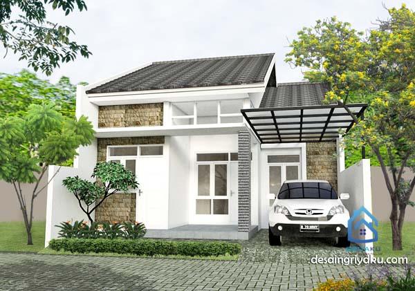 rumah minimalis sederhana di lahan 8x15
